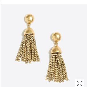 J. Crew Golden Drop Tassel Earrings